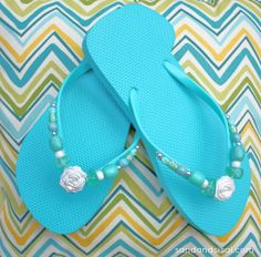 Bling out your Wal-Mart Flip Flops! Yep, I just admitted to buying flip flops from Wal-Mart. ;)