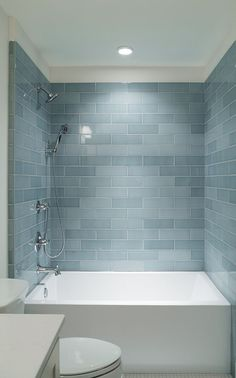 I love this.. deep tub.. gorgeous subway tile. Small Bathroom Remodel with Bathtub Ideas (39)