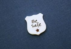 This pocket coin is stamped with  Be Safe Great for your police officer. Keep me with you piece. It has a beautiful polished silver shine, plus it will not tarnish!      Want a different saying? message me anything is possible :)          ~~~~~~~~~~~~~~~~~~~~~~~~~~~~~~~~~~~~~~~~~~~~~~~~~~~~~~~~~~~~~~~~~~~. ** US Shipping ** Your order will ship first class mail (2-5 days).    ** International orders ** Please allow 5-6 weeks for your international order to arrive. ( 2 weeks for your item to…