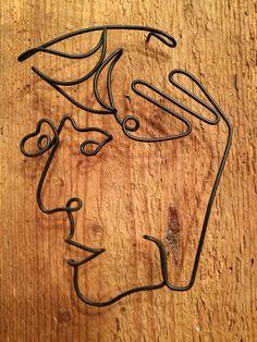 Old man | vintage wood, wire & acrylic | 30 x 20 cm | web: www.artbending.ro