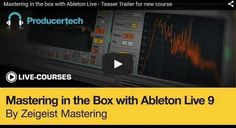 Mastering in the Box with Ableton Live TUTORiAL, Tutorial, Mastering, in the Box, Box, Ableton Live, Magesy.be
