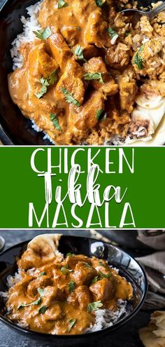 Skip the takeout and whip up this easy Chicken Tikka Masala on your stovetop at home! Tender yogurt-marinated chicken bursting with ginger garlic and Indian spices in a deliciously creamy tomato sauce its perfect for mopping up with a batch of naan Indian Chicken Recipes, Indian Food Recipes, Real Food Recipes, Healthy Recipes, Asian Recipes, Delicious Recipes, Healthy Foods, Ethnic Recipes, Easy Dinner Recipes
