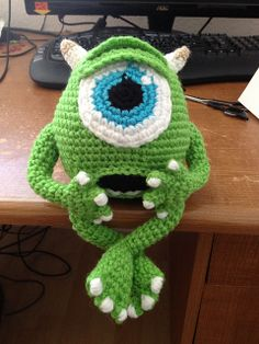 Mike Wazowski! Available as a ravelry download: http://www.ravelry.com/patterns/library/mike-wazowski