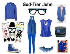 John, from homestuck, inspired look