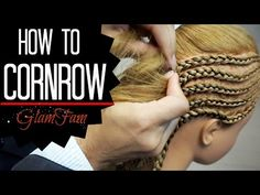 How to Cornrow | How to braid - YouTube
