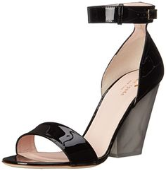 kate  spade  new  york  womens  indiana  wedge  sandal  black  patent
