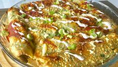 Naleśniki szpinakowe zapiekane z indykiem i warzywami Paella, Mozzarella, Lasagna, Quiche, Pizza, Chicken, Meat, Breakfast, Ethnic Recipes