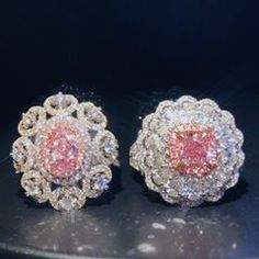 @super.artisan • Rare fancy color diamonds earrings