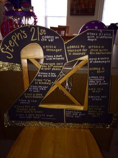 My perfect 21st birthday sign!