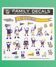 NFL Vikings 25-Pc. Family Auto Decal Set Regular Price $9.95, Sale $5.98