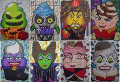 Disney villain cupcakes 8 ACEO card LOT art fanart Jafar Ursula Hades Maleficent | eBay