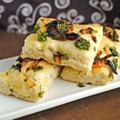 If you're looking for a unique bread for the holidays, this Caramelized Onion & Cilantro Focaccia is it!