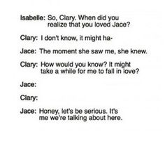 Oh Jace sweety, I fell in love with Sebastian after I realised he was sexier than u