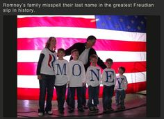 Romney's family misspell their last name in the greatest Freudian slip in history.