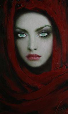 taras loboda art | Taras Loboda i žene u crvenom...