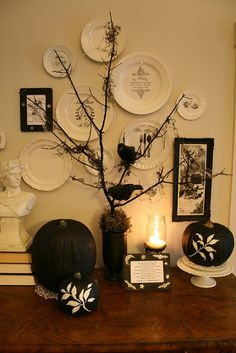 Halloween Decor - Black and White