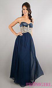 Buy Floor Length Strapless Sweetheart Dress at PromGirl