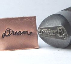 Dream in cursive 1/2 shank design stamp professional grade for stainless 11 x 4 mm for all metals