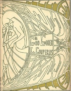 Book Cover by Jan Toorop, 1903, 'God en goden' by Louis Couperus.
