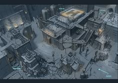 ArtStation - Hind Dropship and Scene layout, Peter Sutherland