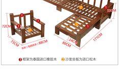 Китайский стиль из цельного дерева диван сочетание 1 + 2 + 3 гостиная полностью загружен трех человек углу Северные небольшой размер ткани диван - Taobao