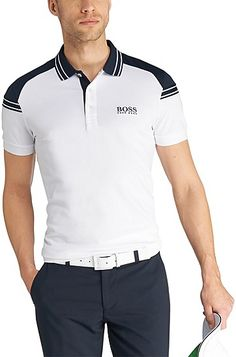 'Paddy Pro' | Modern Fit, Moisture Manager Cotton Polo Shirt , White