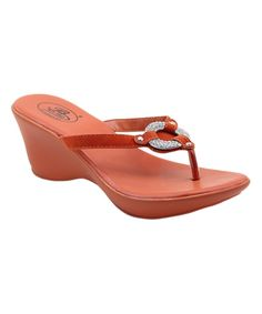 Another great find on #zulily! Italina Coral Rhinestone Ring Sandal by Italina #zulilyfinds
