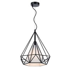 The Telbix Artis is a beautifully designed pendant light featuring a black wire frame and white fabric diffuser. The pendant light is ideal for any contemporary living space.