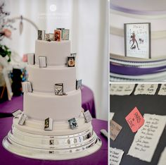 This #weddingcake from Curtis & Co. Cakes is perfect for booklovers. Image © Camilla Reynolds Photography. #wedding #cotswoldwedding