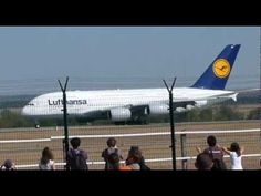 Lufthansa Airbus A380 first visit at Budapest-Ferihegy Liszt Ferenc Inte...