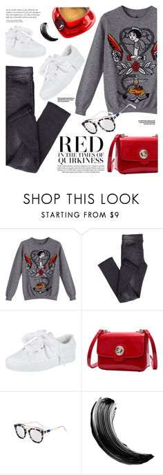 """Pullover cartoon"" by yexyka ❤ liked on Polyvore featuring Cheap Monday, Hedi Slimane and Maybelline"