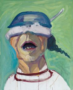 Maria Lassnig, 'Self-Portrait with Saucepan', 1995