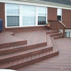 This multi-level project in West Chester Ohio was constructed using 6? and 4? Fiberon Tropics composite decking with Phantom hidden fasteners and Deckorator picket.  This open design allows the view from the house to be uninterrupted by the required deck rails while combining the two areas of the deck.