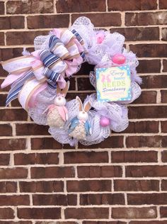 A personal favorite from my Etsy shop https://www.etsy.com/listing/515002551/every-bunny-needs-some-bunny-wreath