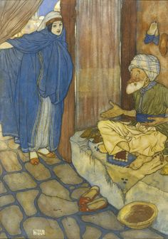 Ali Baba and the Forty Thieves - Stories from The Arabian Nights as retold by Lawrence Housman, 1907
