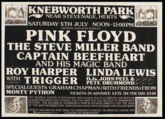 7/5/1975 .................      .  Pink Floyd  .... Original Knebworth Park Concert Poster .... United Kingdom