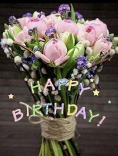 68 trendy flowers bouquet birthday wishes Birthday Wishes Flowers, Happy Birthday Wishes Images, Happy Birthday Wishes Cards, Happy Birthday Flower, Happy Birthday Pictures, Birthday Wishes Quotes, Happy Birthdays, Free Birthday, Happy Pictures
