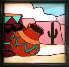 Southwestern style pottery       Would look good as stained glass!