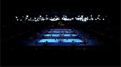 This image of the Table Tennis venue at ExCeL was created using a variable planed lens on Day 1 of the London 2012 Olympic Games.