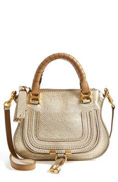 Chloé ~ ' Mini Marcie' Sand Leather Shoulder Bag