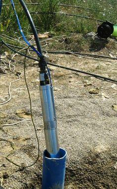 Cum se monteaza o pompa submersibila intr-un foraj de alimentare cu apa ?