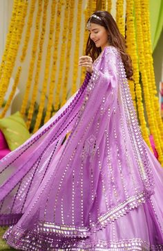 Indian Dresses, Indian Outfits, Indian Clothes, Mirror Work Lehenga, Mehendi Outfits, Sleek Hairstyles, Bridal Lehenga, Lehenga Choli, Bridal Style