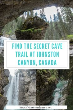 how to find the secret cave at johnston canyon banff