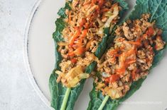 Chinese BBQ Turkey Wraps - Slender Kitchen. Works for Weight Watchers®, Gluten Free and Clean Eating diets. 225 Calories.