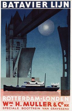 Batavier Lijn - Rotterdam-Londen - 1935 - (Emmanuel Gaillard) -