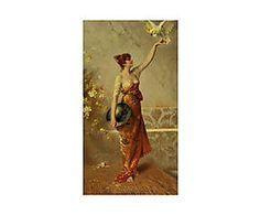 Impresión sobre lienzo Frances Reynel de Robert Peake - 40x75 cm