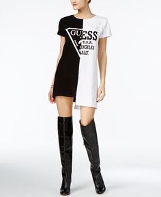 GUESS ORIGINALS Cotton Logo T-Shirt Dress