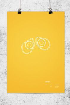 Pixar Minimal Posters