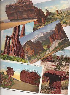 Old Colorado postcards, Pikes Peak region, Garden of the Gods