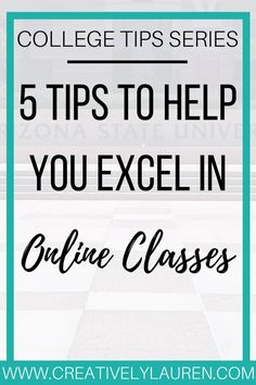 Online classes can be harder than in-person classes. When you don't have a class to attend, it's up to you to find time to teach yourself. With that in mind, I'm sharing my five tips to help you excel in online classes.